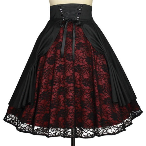 Plus Size Gothic Lace Steampunk Clothing Skirt NWT